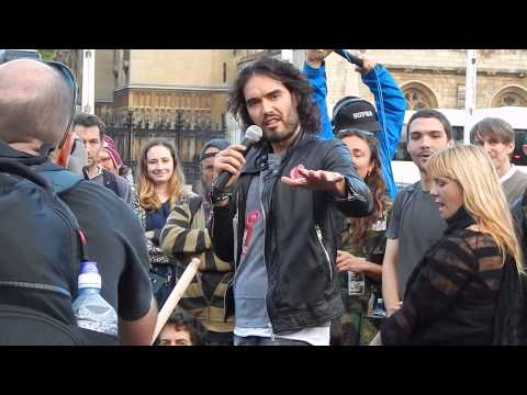 Russell Brand Speaking at Occupy Democracy