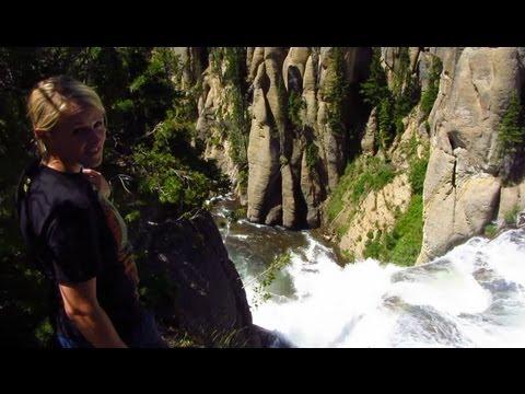 Whoop Whoop - Terraced Falls Yellowstone!