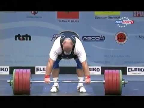 Men +105 kg clean & jerk European Weightlifting Championships Tirana 2013