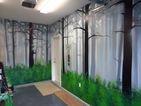 How to paint a mural on a bedroom wall