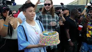 POST MALONE SURPRISES RICH BRIAN WITH THE BEST BIRTHDAY GIFT OF ALL TIME!! | WITH POSTMATES!