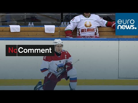 Putin Dons Skates To Play Ice Hockey In Moscow