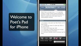Poetry Writing Software - iPhone Poem Writing App, Poet's Pad