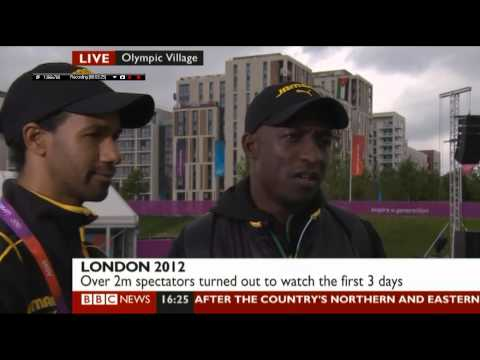 Kenneth Edwards bbc news interview (Taekwondo)  london olympics 2012