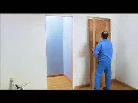 Montaje de una puerta artevi en 6 pasos youtube for Como poner una puerta de madera con marco