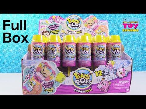 Pikmi Pops PushMiUps Push Mi Ups Surprise Plush Full Box Toy Review   PSToyReviews