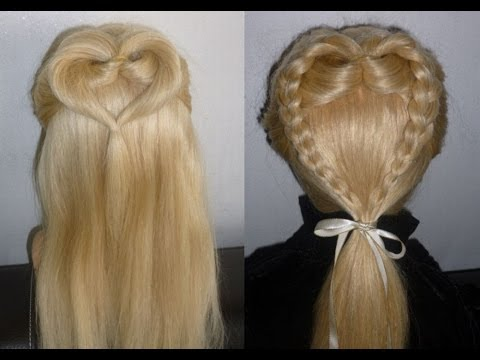 Frisuren Fr Mittellange HaareHERZCHEN ZopfFlechtfrisur