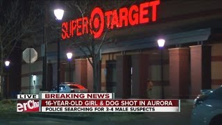 video Aurora Police say a teen girl and a dog were shot during an apparent robbery in the parking lot of a Target store. The shooting occurred just after 9 p.m. at the Super Target at 14200 E. Ellsworth...