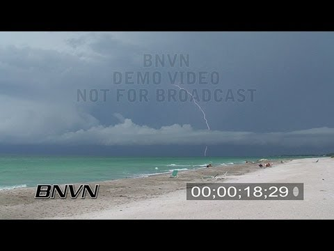 7/24/2007 Longboat Key, FL Beach Lightning