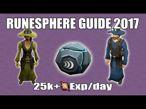 [Runescape 3] Runesphere Guide 2017   AFK Fast Daily Runecrafting EXP!