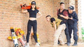 Nerf War: Commandos Marines Humiliate Warrior Girl Nerf Gun And Retaliated | Nerf Movie