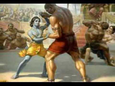 Lord Krishna in a beautiful song maula mere maula mere.....