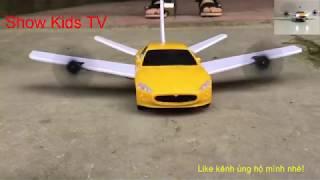 ô tô điều khiển chế thành máy bay siêu khủng cho bé#Automobile transforms into a super-baby aircraft