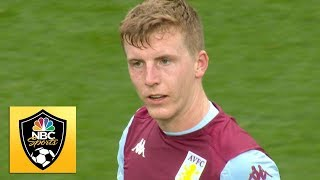 Matt Targett puts Villa up at the death aganist Aston Villa | Premier League | NBC Sports