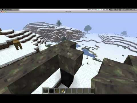 how to make a hunting blind minecraft