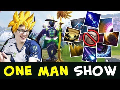 One man army — Super Saiyan Miracle mid Rubick vs Invoker