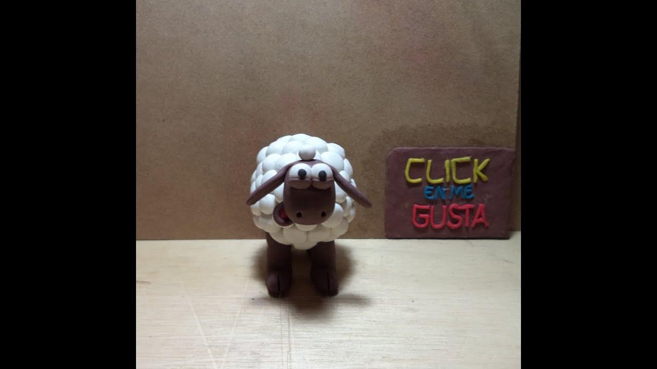Como hacer una oveja en plastilina tutorial de plastilina - Como hacer una oveja ...