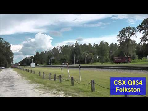 [HD] Railfanning Folkston, GA 8-10-13 Part 2.