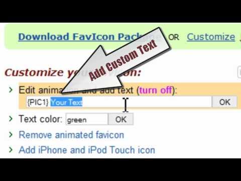 Webmaster - Hacer un favicon online fijo o animado