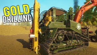 DRILLING FOR DEEP GOLD POCKETS WITH THE NEW DRILL MACHINE! - Gold Rush Full Release Gameplay