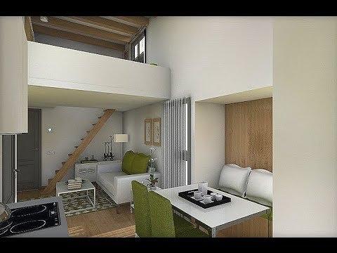 Dise o interior apartamento 32 8 m2 youtube - Diseno interior armarios ...