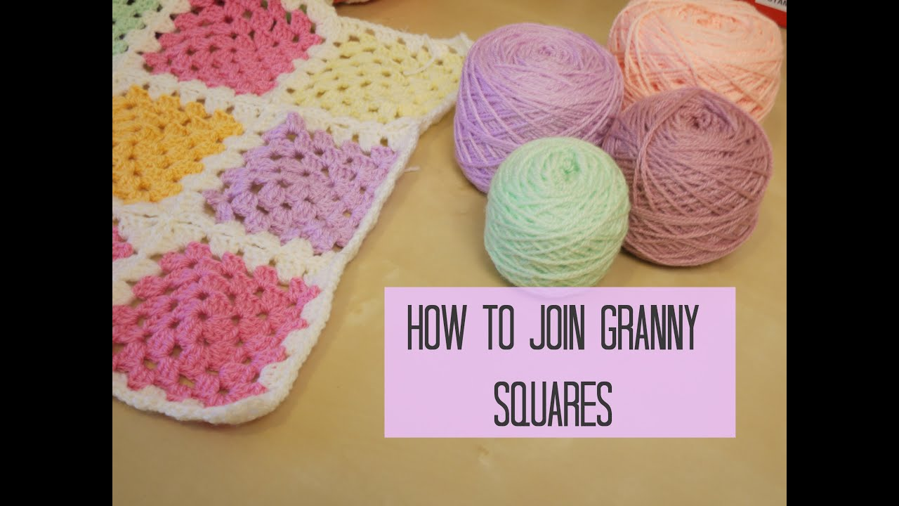 Crochet Stitches To Join Granny Squares : CROCHET: How to join granny squares for beginners Bella Coco ...