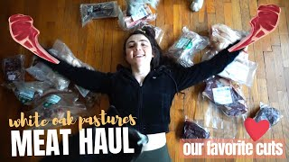White Oak Pastures MEAT HAUL | strong sistas fav selections of grass fed & finished meat ~