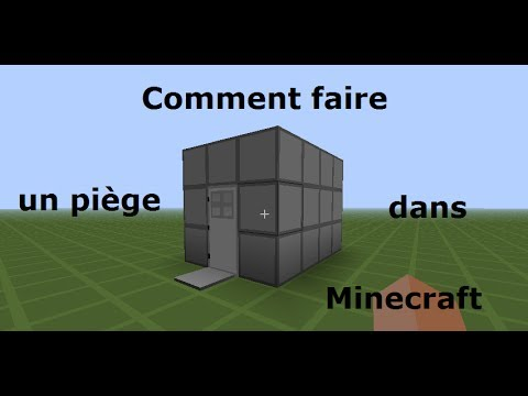 Tuto comment faire un pi ge dans minecraft multiplayer 1 facile a - Comment faire un chalet dans minecraft ...