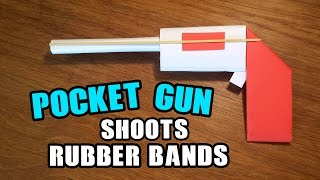 How To Make a Paper Mini / Pocket Gun That Shoots Rubber Bands - Easy Paper Gun Tutorials