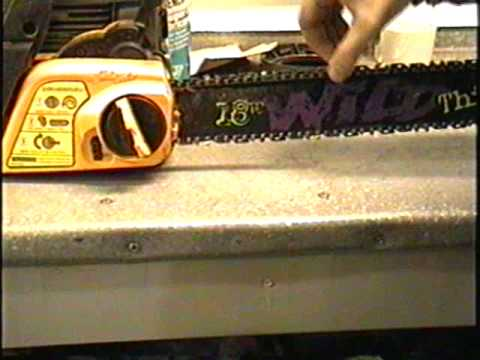 HOW TO Adjust Chainsaw Chain Using