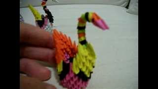 Four Mini 3d Origami Colourful Ducks