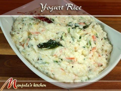 Yogurt Rice (Curd Rice, Mosaranna) Recipe by Manjula