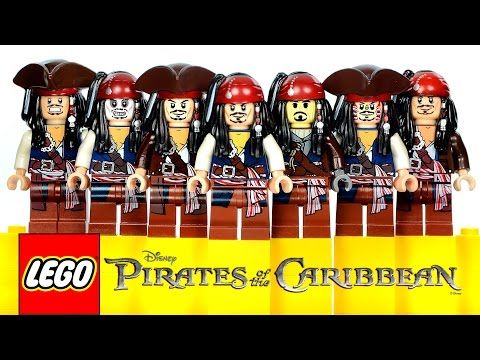 LEGO® Pirates of the Caribbean Jack Sparrow Gallery of Variants