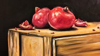 Oil painting from the beginning - part 1/2 || تعلم رسم الزيت من البداية