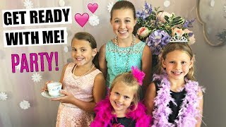 GRWM FOR A FANCY PARTY! FAMILY VLOG