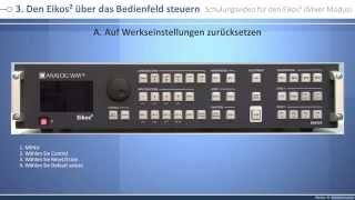 Eikos2 - EKS550: Schulungsvideo Mixer modus