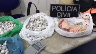 Polícia apreende cerca de 10 kg de drogas no Tabuleiro Novo