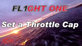 How to set a Throttle Cap on Flight One