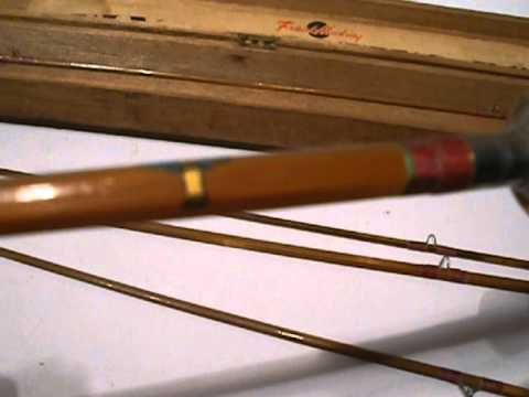 Frank hacking bamboo gold tiger fly fishing rod 8 39 or 5 39 4 for Tiger fishing rod