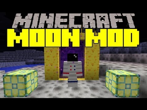 Minecraft Mod Showcase - Moon Mod -  Mod Review
