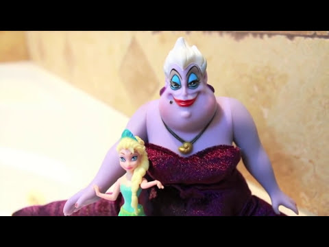 Ursula Teaches ELSA, ARIEL, & Lalaloopsy how to swim Disney Frozen Little Mermaid
