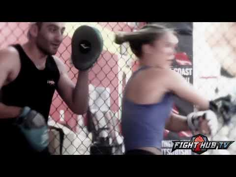 Ronda Rousey vs. Alexis Davis UFC 175 - Rousey training camp footage