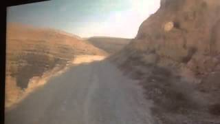 Dangerous road near Mar Saba Monastery