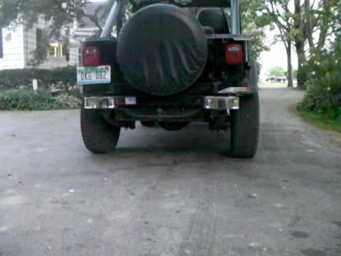 1987 Jeep YJ Exhaust 4.2 INLINE 6