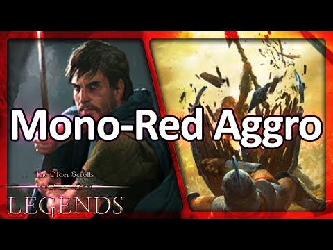 (TES: Legends) Mono-Red Aggro - Overview and Gameplay