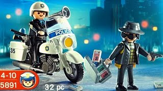 Playmobil Police Polizei  (5891) unboxing City Action Policeman and thief toy