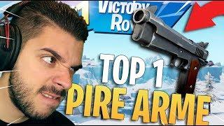 ?DEFI : TOP 1 AVEC LES 2 PIRES ARMES GRISES SUR FORTNITE - GAMEPLAY
