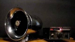 Federal Signal Corporation Siren ( Model PA20A )INTERCEPTOR  1960'S ?