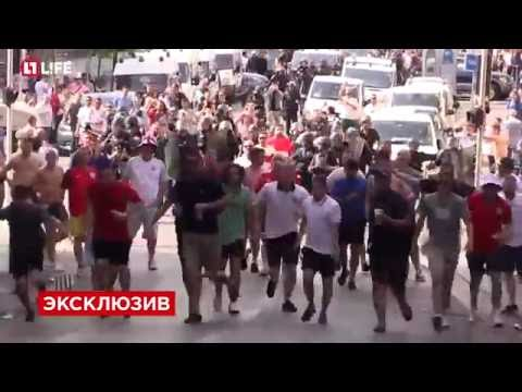 France: England and Russia fans clash in Marseille in HD