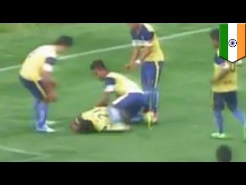 Goal Celebration Death: Indian Soccer Player Dies After Breaking His Neck video